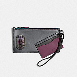SLG TRIO IN COLORBLOCK WITH COACH PATCH - QB/GREY PURPLE MULTI - COACH 91263