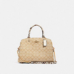 LILLIE CARRYALL IN SIGNATURE CANVAS - IM/LIGHT KHAKI MULTI - COACH 91383