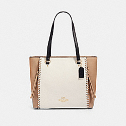 MARLON TOTE IN COLORBLOCK WITH WHIPSTITCH - IM/CHALK MULTI - COACH 91389