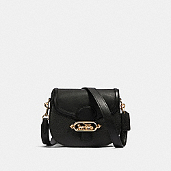 JADE SADDLE BAG - IM/BLACK - COACH 91397