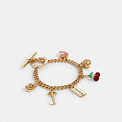 COACH CHARM BRACELET - GD/MULTI - COACH 91424