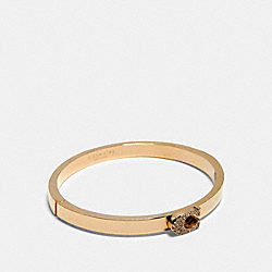 PAVE SIGNATURE HINGED BANGLE - GOLD - COACH 91428