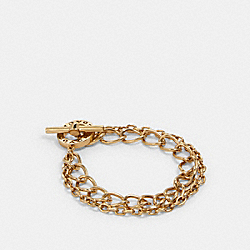 TOGGLE CHAIN OPEN CIRCLE BRACELET - GOLD - COACH 91438