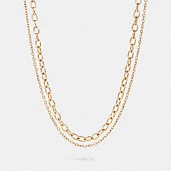 TOGGLE CHAIN NECKLACE - GOLD - COACH 91440