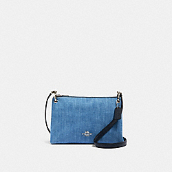 MIA CROSSBODY - SV/DENIM MULTI - COACH 91458