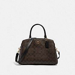 LILLIE CARRYALL IN SIGNATURE CANVAS - IM/BROWN BLACK - COACH 91495