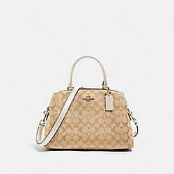 LILLIE CARRYALL IN SIGNATURE CANVAS - IM/LIGHT KHAKI CHALK - COACH 91495
