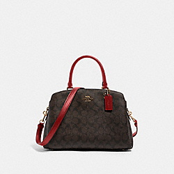 LILLIE CARRYALL IN SIGNATURE CANVAS - IM/BROWN 1941 RED - COACH 91495