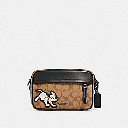 DISNEY X COACH GRAHAM CROSSBODY IN SIGNATURE CANVAS WITH DALMATIAN - QB/TAN ADMIRAL MULTI - COACH 91498