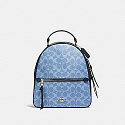 JORDYN BACKPACK IN SIGNATURE CANVAS - SV/LIGHT DENIM - COACH 91501