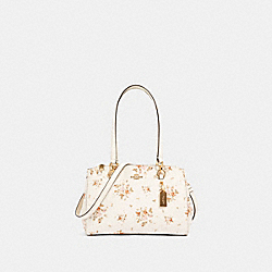 ETTA CARRYALL WITH ROSE BOUQUET PRINT - IM/CHALK MULTI - COACH 91509