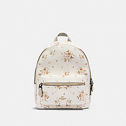 MEDIUM CHARLIE BACKPACK WITH ROSE BOUQUET PRINT - IM/CHALK MULTI - COACH 91530