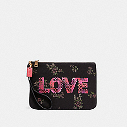 GALLERY POUCH WITH JASON NAYLOR GRAPHIC - IM/BLACK MULTI - COACH 91534