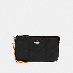LARGE WRISTLET WITH QUILTING - IM/BLACK - COACH 91547