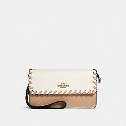 FOLODVER WRISTLET WITH WHIPSTITCH - IM/CHALK MULTI - COACH 91551