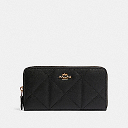 ACCORDION ZIP WALLET WITH QUILTING - IM/BLACK - COACH 91575