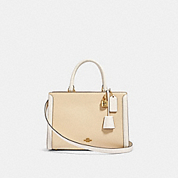 ZOE CARRYALL IN COLORBLOCK - OL/CREAM MULTI - COACH 91596
