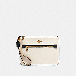 GALLERY POUCH IN COLORBLOCK - IM/CHALK MULTI - COACH 91620