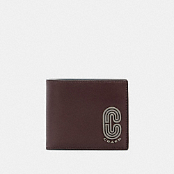 3-IN-1 WALLET WITH COACH PATCH - QB/OXBLOOD AEGEAN MULTI - COACH 91625