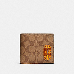 3-IN-1 WALLET IN COLORBLOCK SIGNATURE CANVAS WITH COACH PATCH - QB/TAN ADMIRAL MULTI - COACH 91626