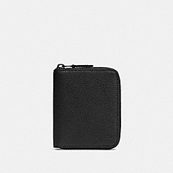 MEDIUM ZIP AROUND WALLET - QB/BLACK - COACH 91632