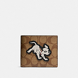 DISNEY X COACH 3-IN-1 WALLET IN SIGNATURE CANVAS WITH DALMATIAN - QB/ADMIRAL - COACH 91655
