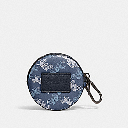 ROUND HYBRID POUCH WITH HORSE AND CARRIAGE PRINT - QB/INDIGO MULTI - COACH 91658