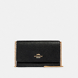 FLAP BELT BAG - IM/BLACK - COACH 91678