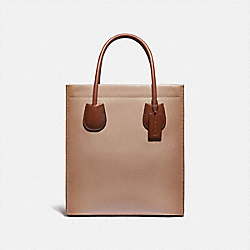 CASHIN CARRY TOTE 29 IN COLORBLOCK - V5/TAUPE MULTI - COACH 91779