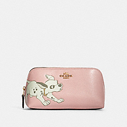 DISNEY X COACH COSMETIC CASE 17 WITH DALMATIAN - IM/BLOSSOM - COACH 91785