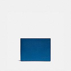 SLIM BILLFOLD WALLET WITH SIGNATURE CANVAS INTERIOR - PACIFIC/CHALK - COACH 921