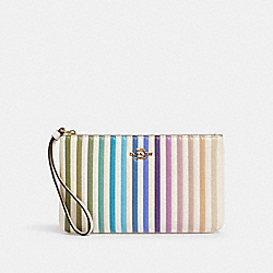 LARGE WRISTLET WITH OMBRE QUILTING - IM/CHALK MULTI - COACH 92283