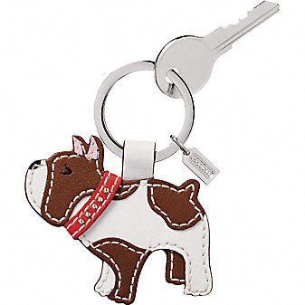 Coach Bulldog Key Ring