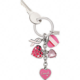 Coach Official Site - BREAST CANCER AWARENESS MULTI MIX KEYFOB :  breast cancer awareness coach keychain accessories