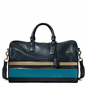 BLEECKER DEBOSSED STRIPE DUFFLE