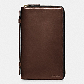 BLEECKER LEATHER DOUBLE  ZIP TRAVEL ORGANIZER