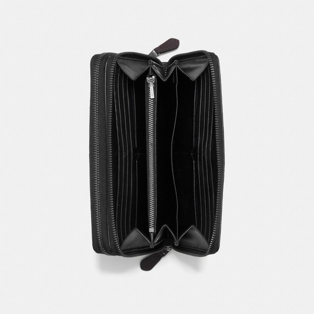 DOUBLE ZIP TRAVEL ORGANIZER IN SIGNATURE CROSSGRAIN LEATHER - Alternate View A2