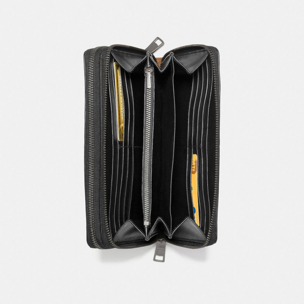 DOUBLE ZIP TRAVEL ORGANIZER IN SPORT CALF LEATHER - Alternate View