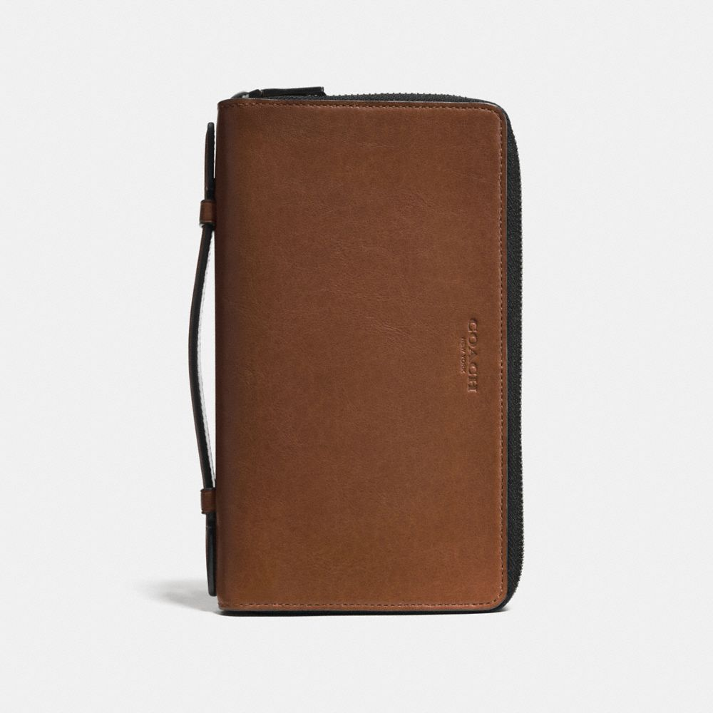 DOUBLE ZIP TRAVEL ORGANIZER IN SPORT CALF LEATHER