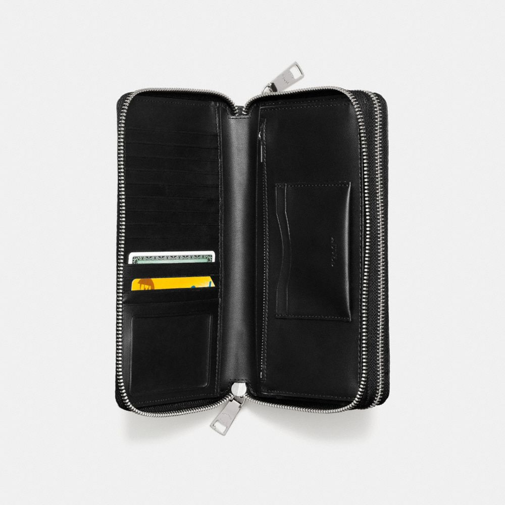 DOUBLE ZIP TRAVEL ORGANIZER IN EMBOSSED SIGNATURE CANVAS - Alternate View A1