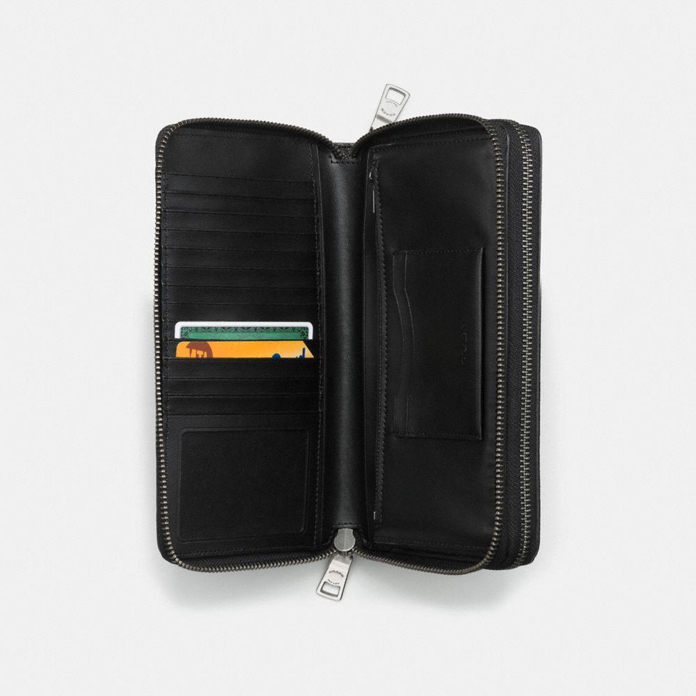 Coach Double Zip Travel Organizer in Crossgrain Leather Alternate View 1