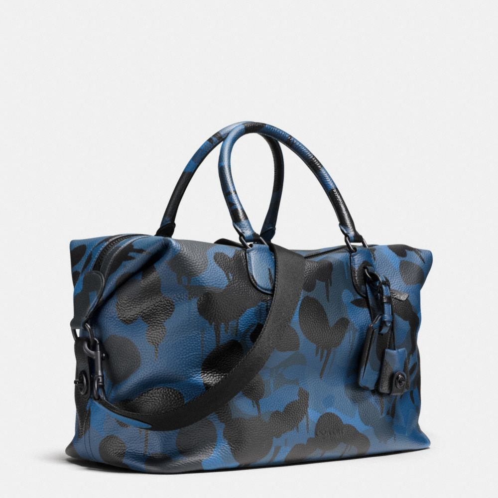 Explorer Duffle in Printed Pebble Leather - Alternate View A2