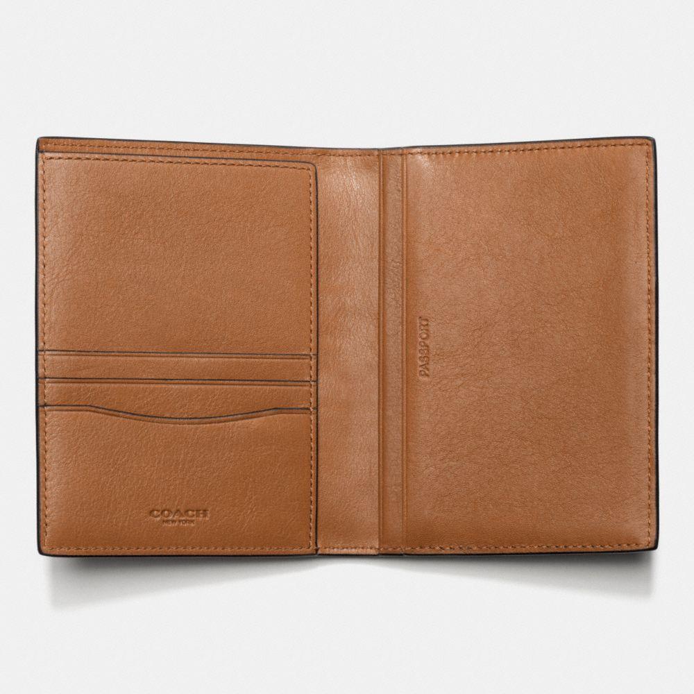 Modern Varsity Stripe Passport Case in Sport Calf Leather - Alternate View A1