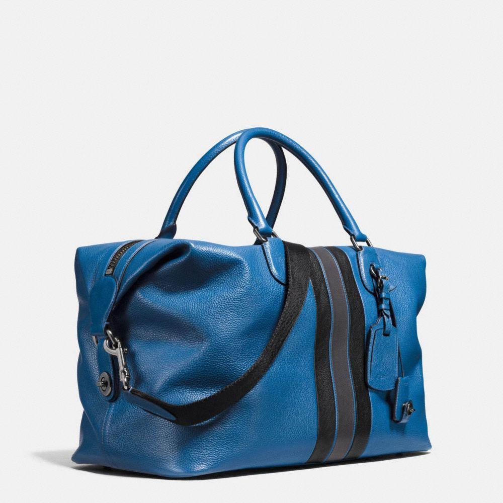 Varsity Stripe Explorer Bag in Pebble Leather - Alternate View A2
