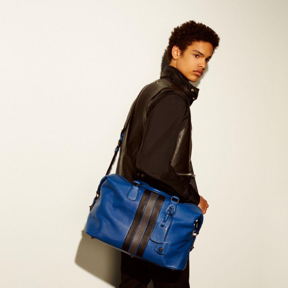 Varsity Stripe Explorer Bag in Pebble Leather - Alternate View A4