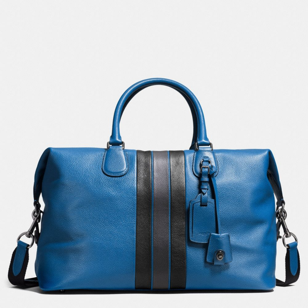 Varsity Stripe Explorer Bag in Pebble Leather