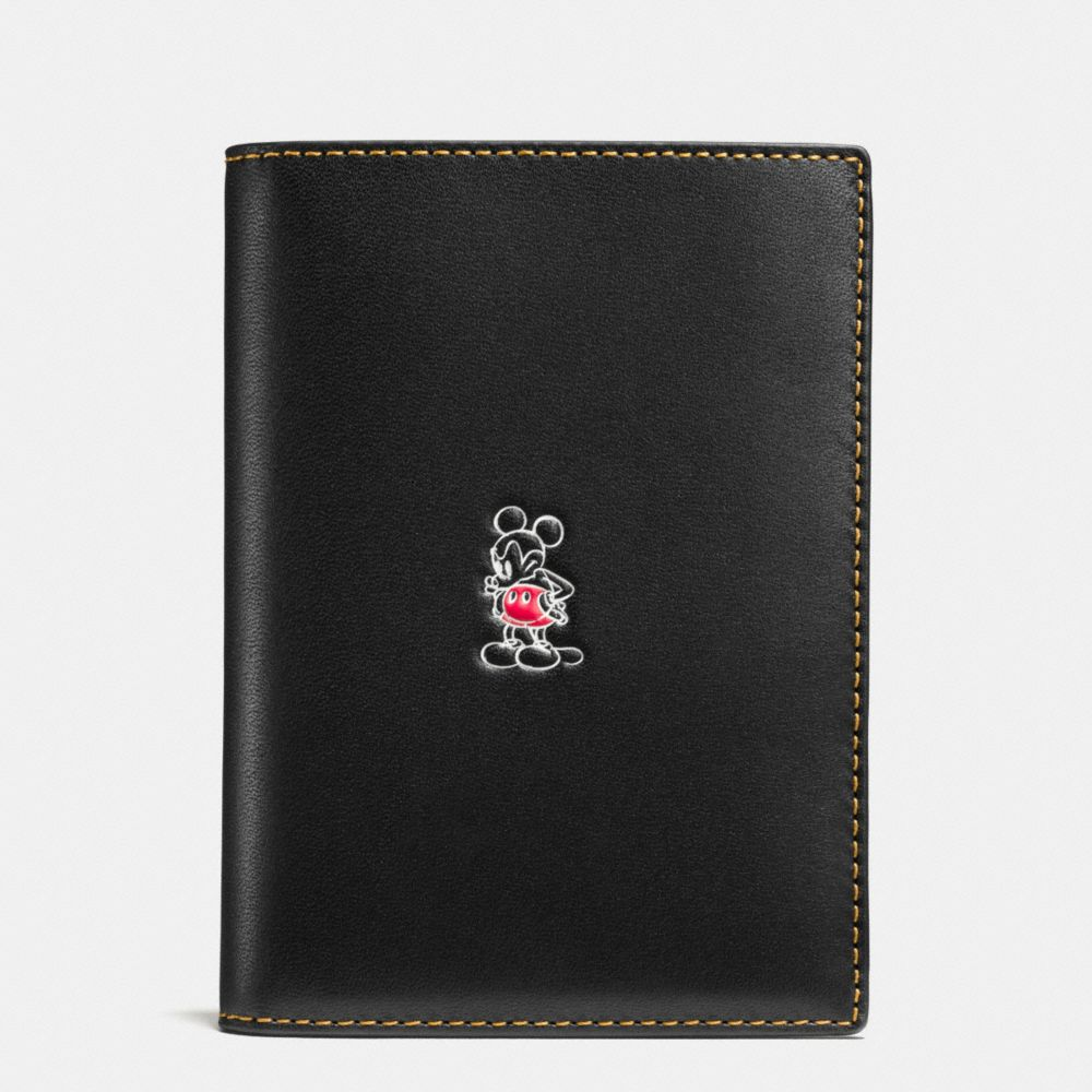 MICKEY PASSPORT CASE IN GLOVETANNED LEATHER