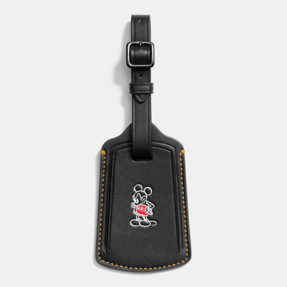 MICKEY LUGGAGE TAG IN GLOVETANNED LEATHER - Alternate View