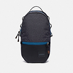 REVERSIBLE PACER BACKPACK IN SIGNATURE CORDURA® FABRIC WITH COACH PATCH - JI/BLUE MULTI - COACH 93848