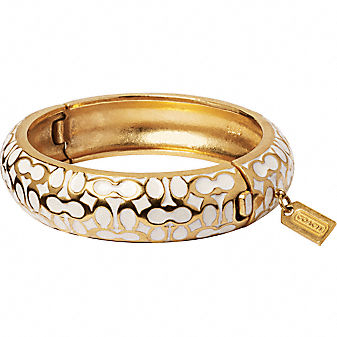 Coach Miranda Signature Enamel Bangle, $138